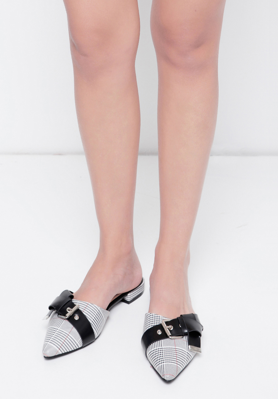 Chocochips Boutique Zelma Dress White Aby Shoes Houndstooth